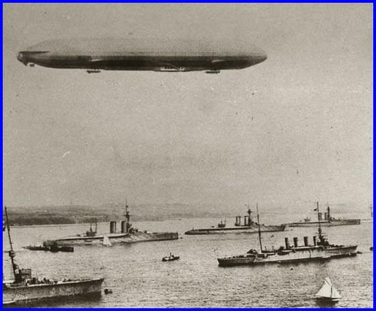 14 18 zeppelin de la marine et premieres manoeuvres en 1914 encadre