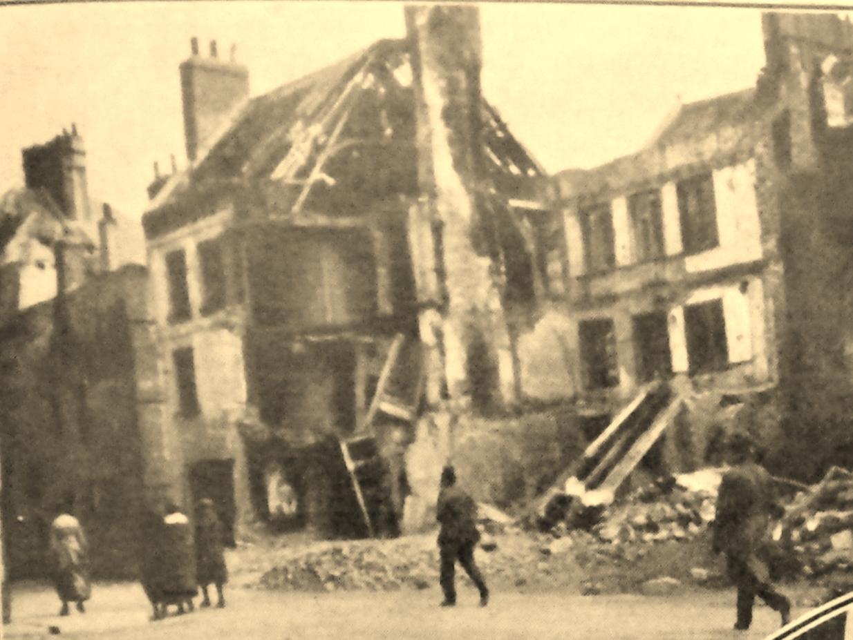 Calais 14 18 5 rue saint nicolas explosion d une torpille le 25 janv 1918