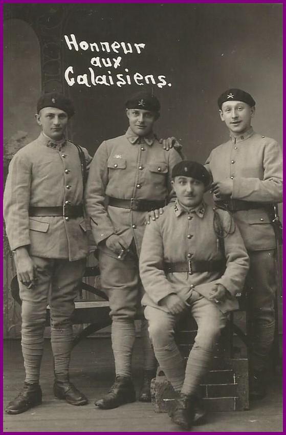 Calais 14 18 8eme regiment encadre
