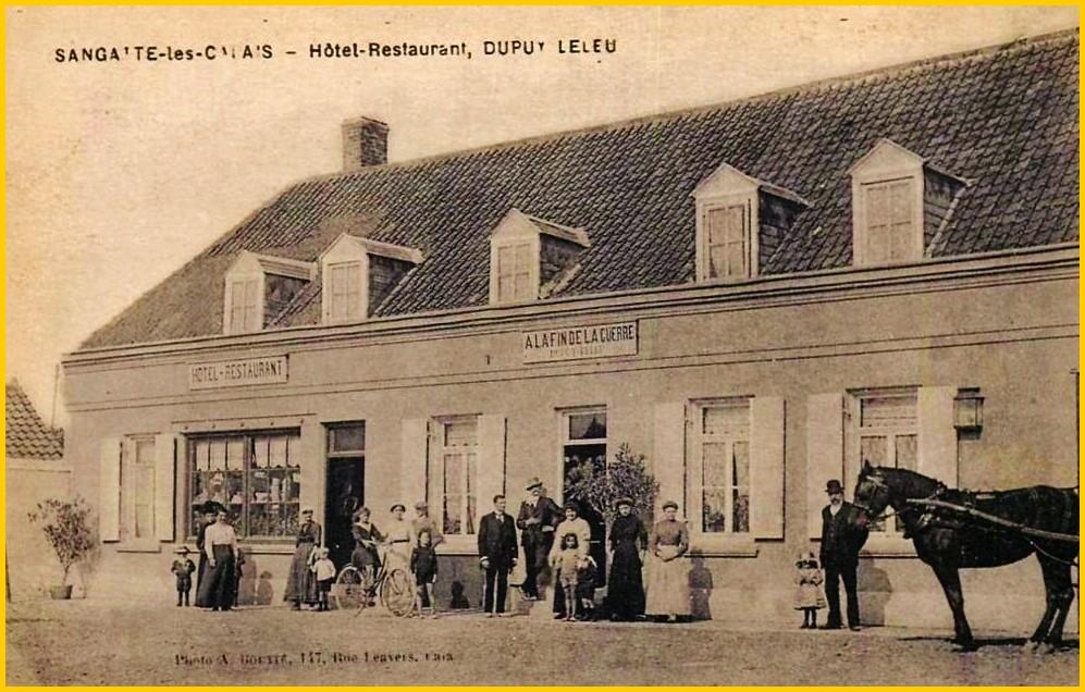 Calais 14 18 a la fin de la guerre restaurant dupuy encadre