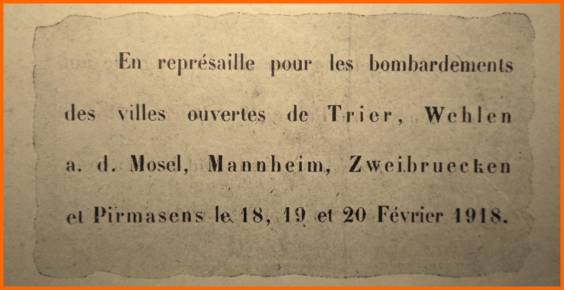 Calais 14 18 affichette represailles encadre 1