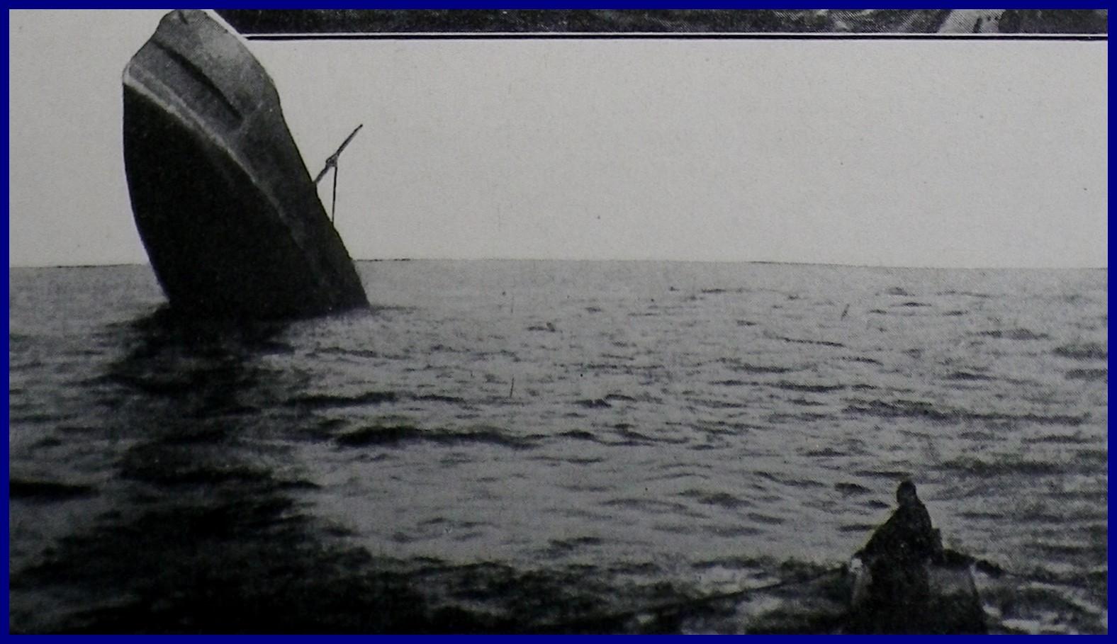 Calais 14 18 agonie d un transport de ravitaillement torpille par un sous marin allemand 3 encadre