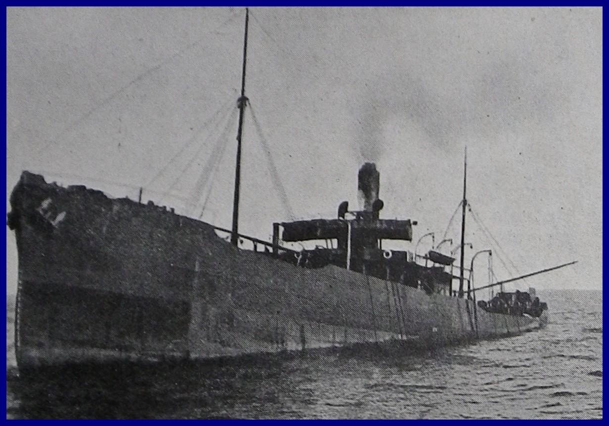 Calais 14 18 agonie d un transport de ravitaillement torpille par un sous marin allemand encadre