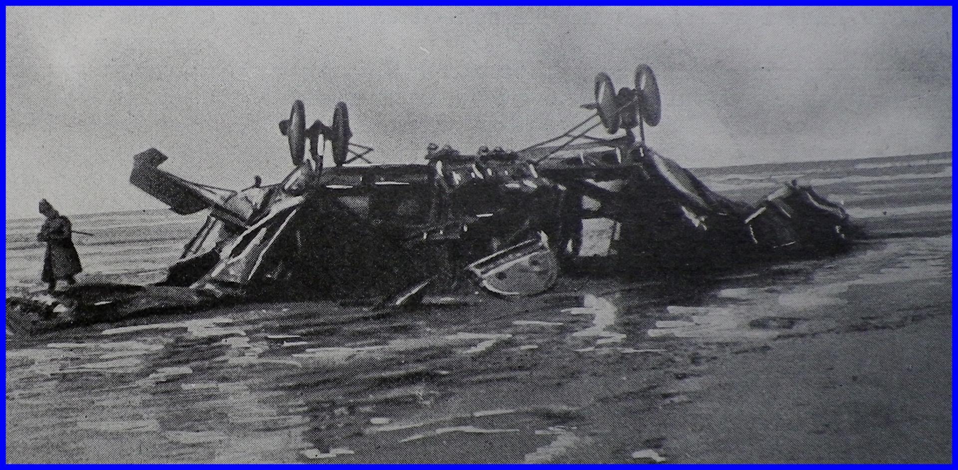 Calais 14 18 avion abattu encadre