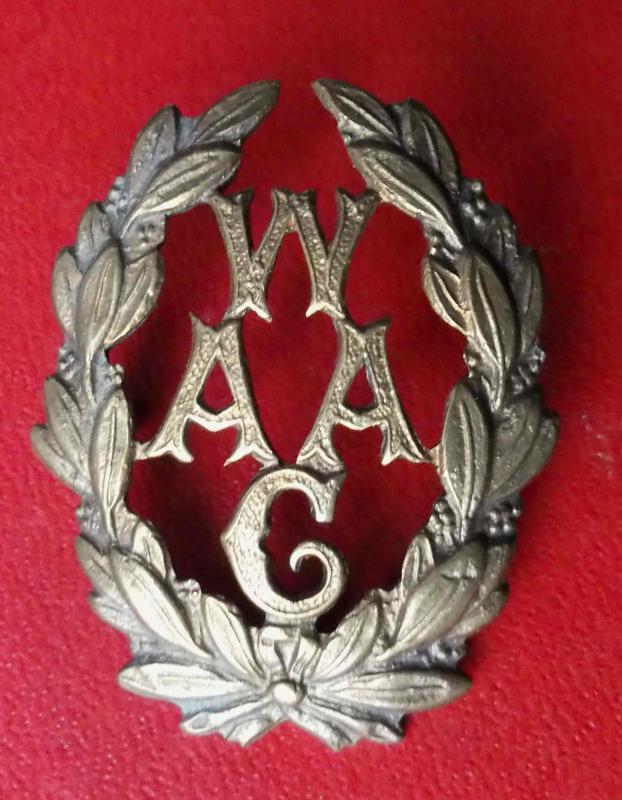 Calais 14 18 badge de chapeau des waag auxiliaire anglaise