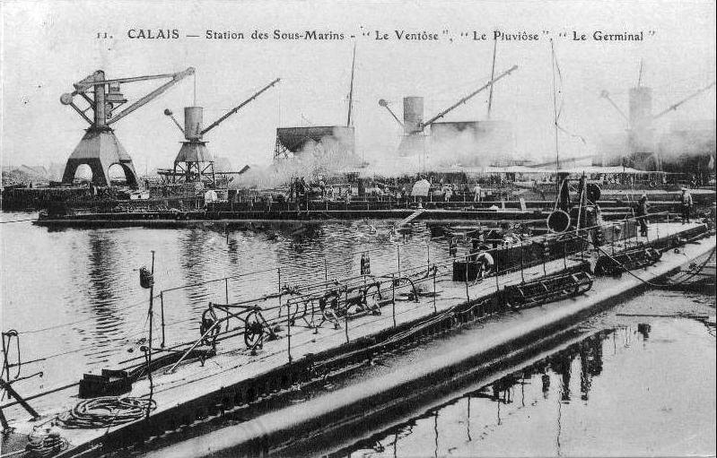 Calais 14 18 base sous marins