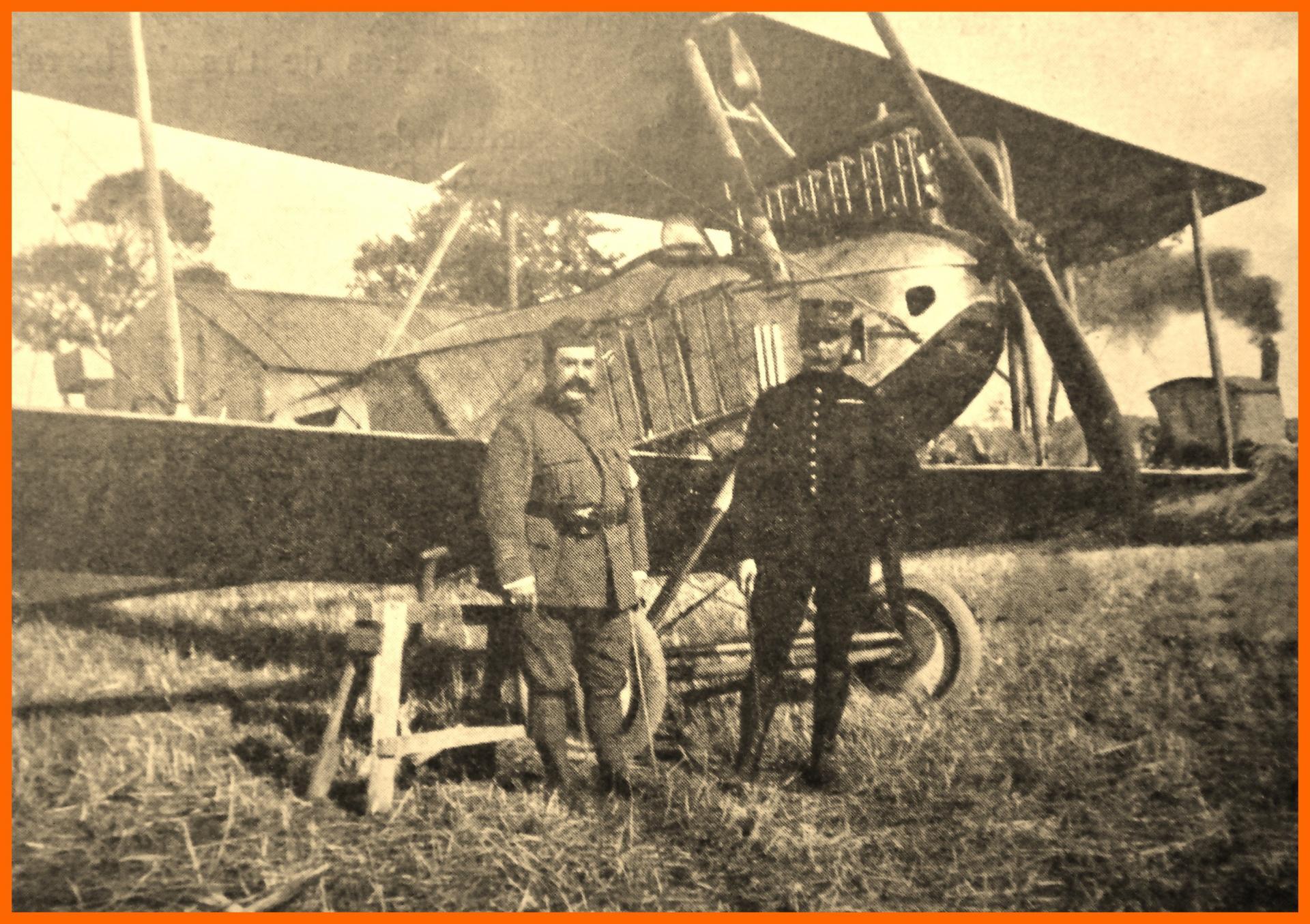 Calais 14 18 biplan allemand ayant atterri a peuplingues se croyant a ostende 10 sept 1915 encadre