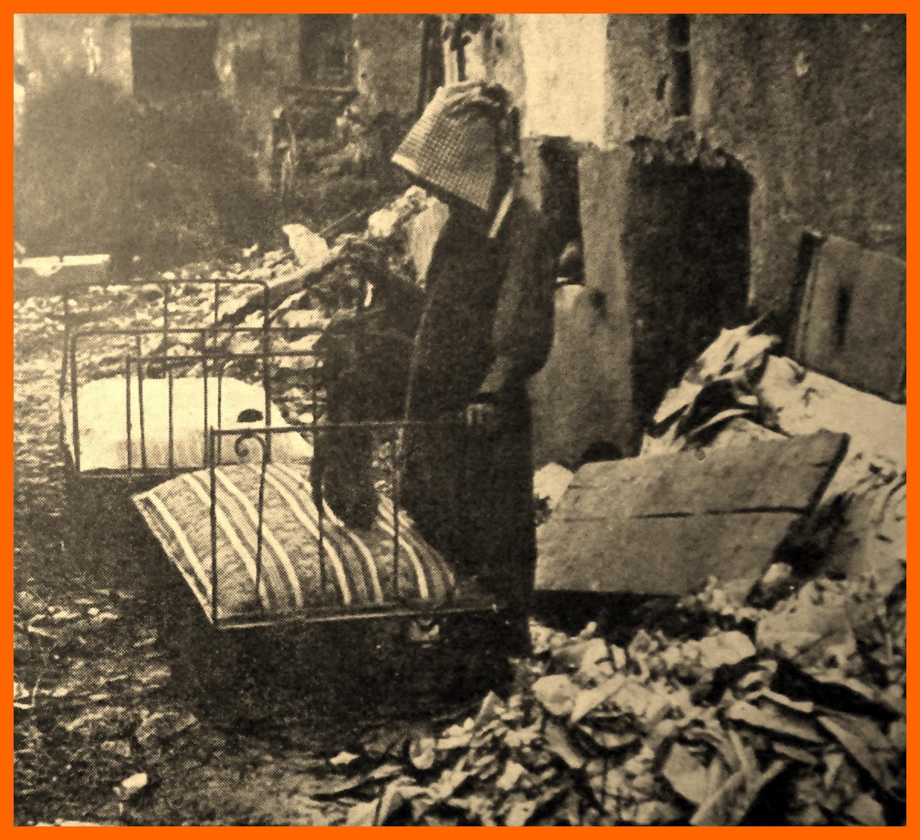 Calais 14 18 bombardement des 3 et 4 sept 1917 rue miraumont au fort nieulay et le sauvetage du mobilier encadre