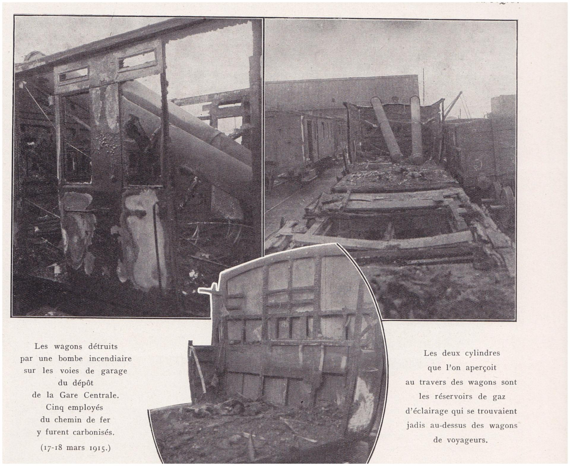 Calais 14 18 bombes ayant atteint les voies pres la gare centrale