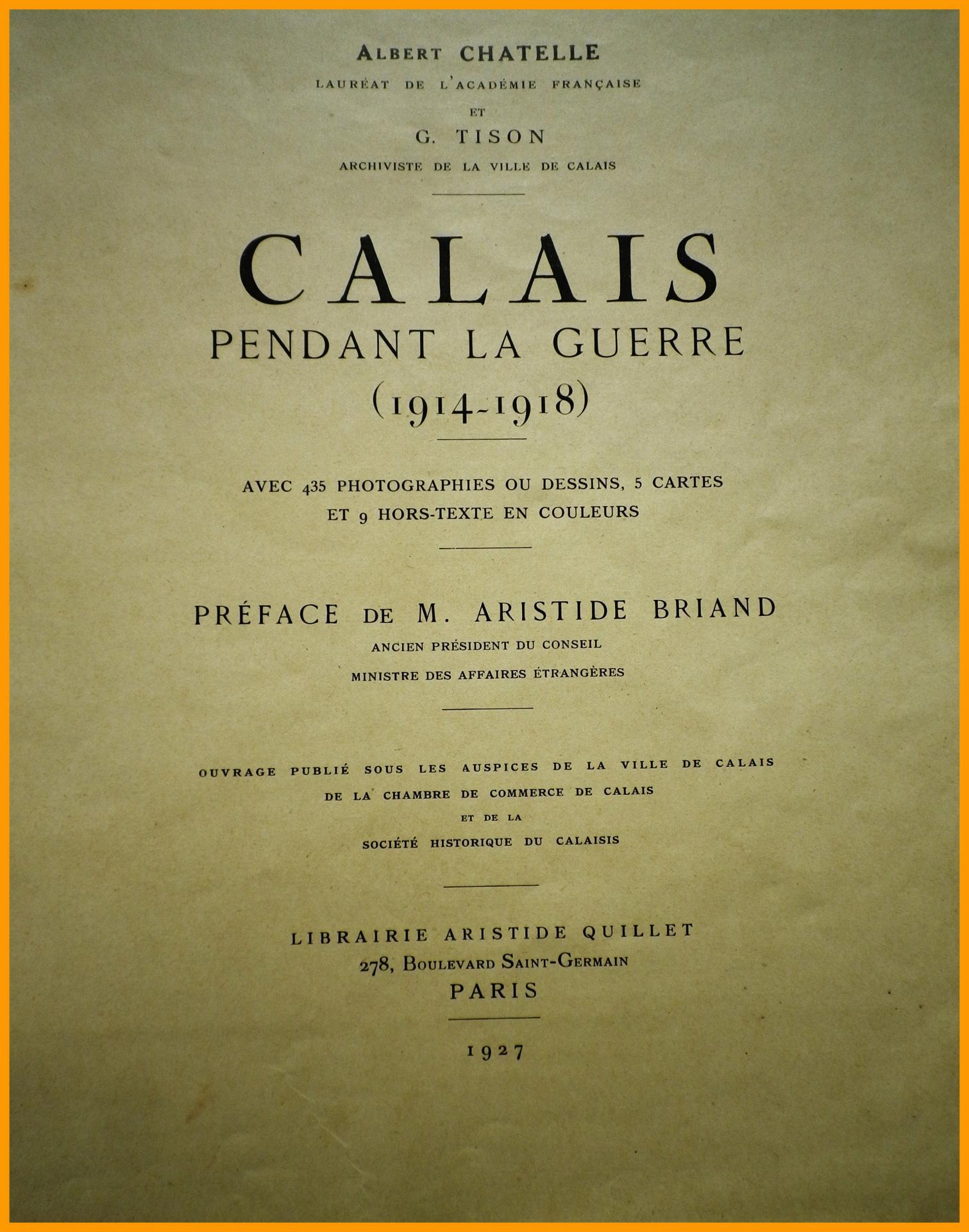 Calais 14 18 calais pendant la guerre titre encadre
