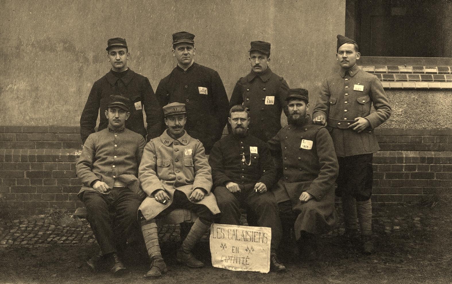 Calais 14 18 calaisiens prisonnier a zwickau 2 novembre 1915 2