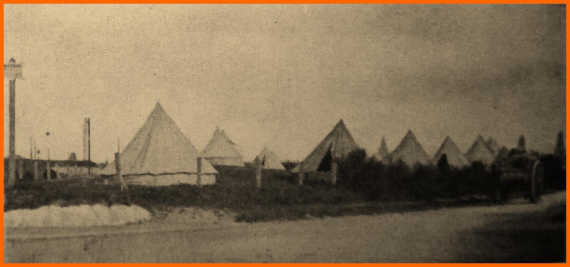 Calais 14 18 camps anglais dans les dunes de l avenue de la plage encadre
