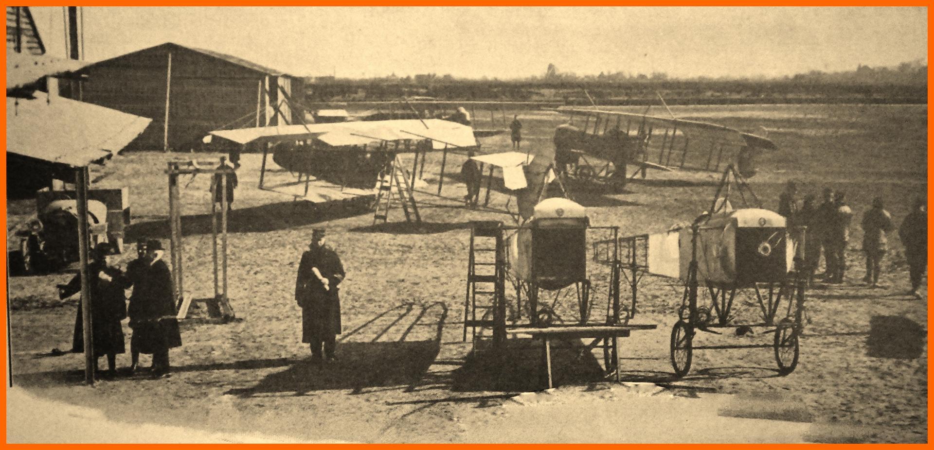 Calais 14 18 escadrilles belges au camp du beau marais rn 1914 encadre 2