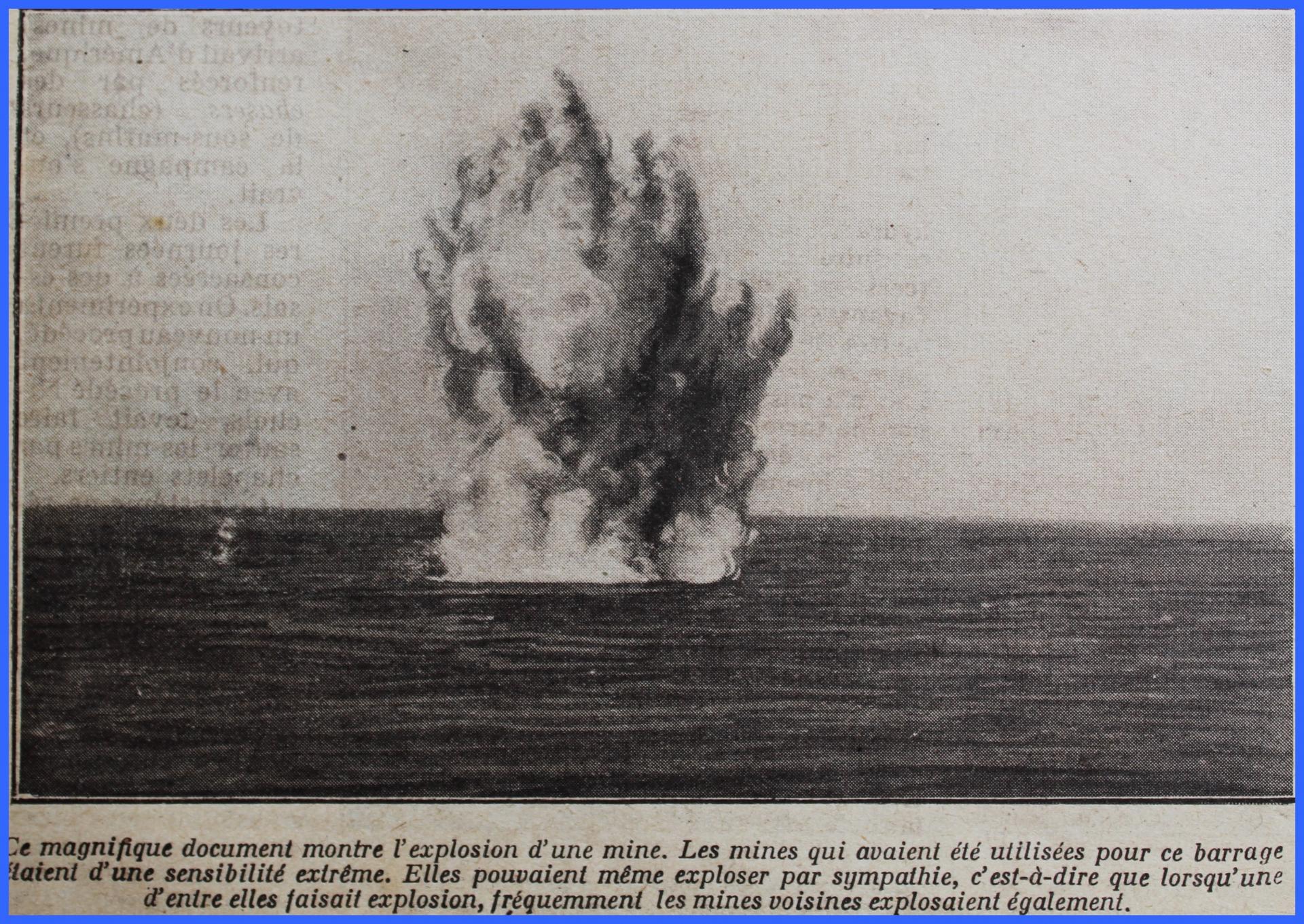 Calais 14 18 explosion d une mine encadre