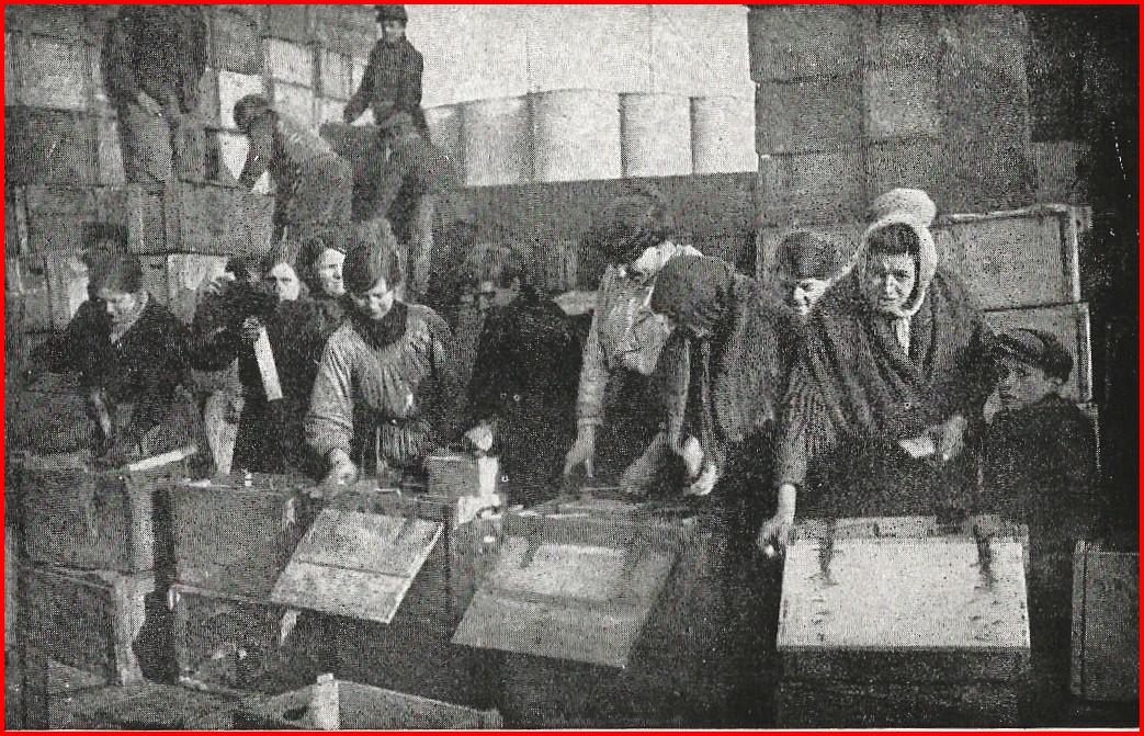 Calais 14 18 femmes francaises travaillant au camp anglais encadre