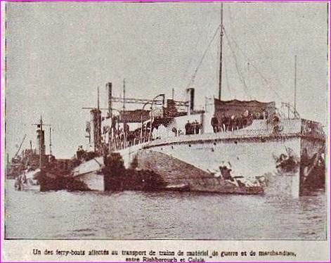 Calais 14 18 ferry boat encadre