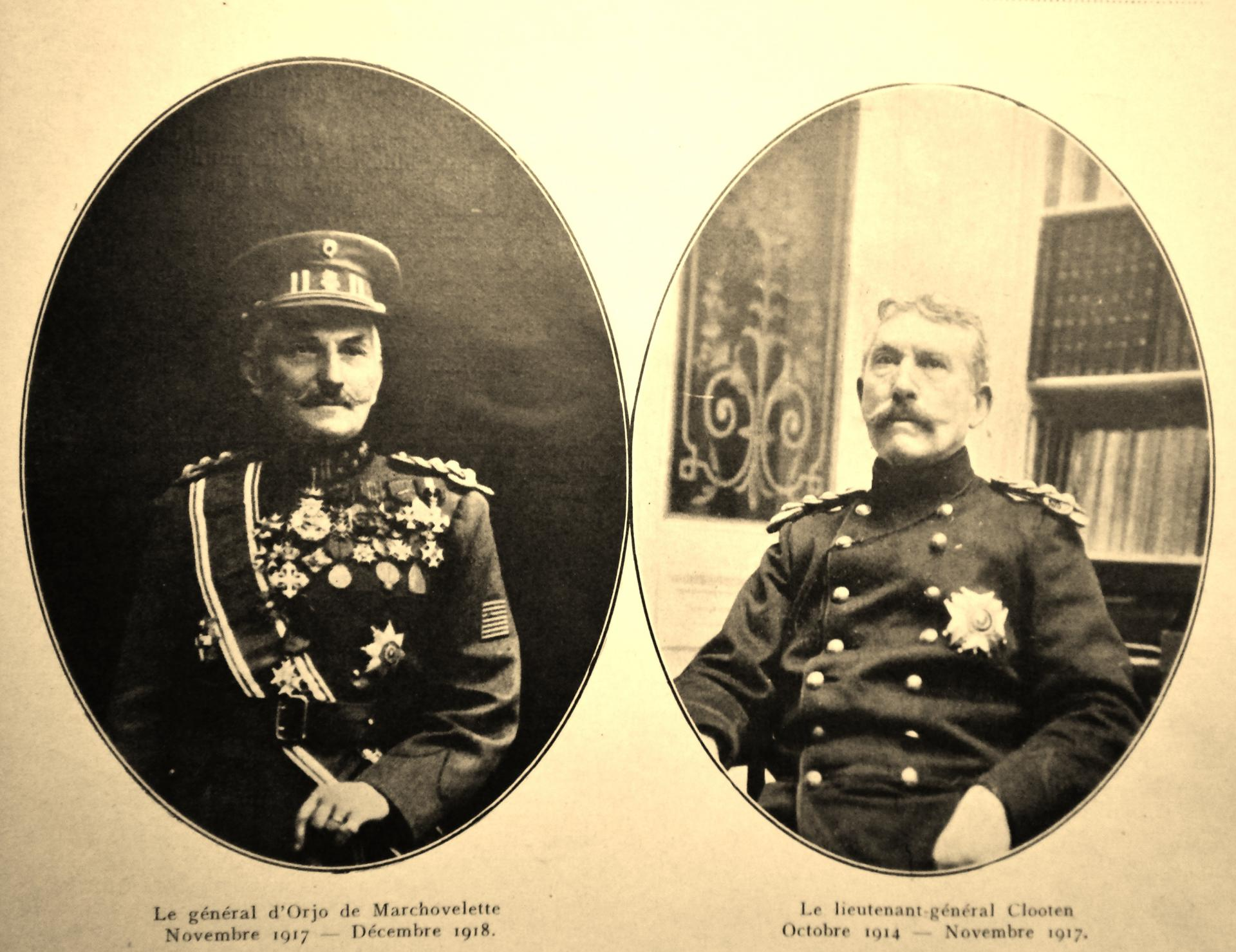Calais 14 18 general d orjo et lieutenant general clooten