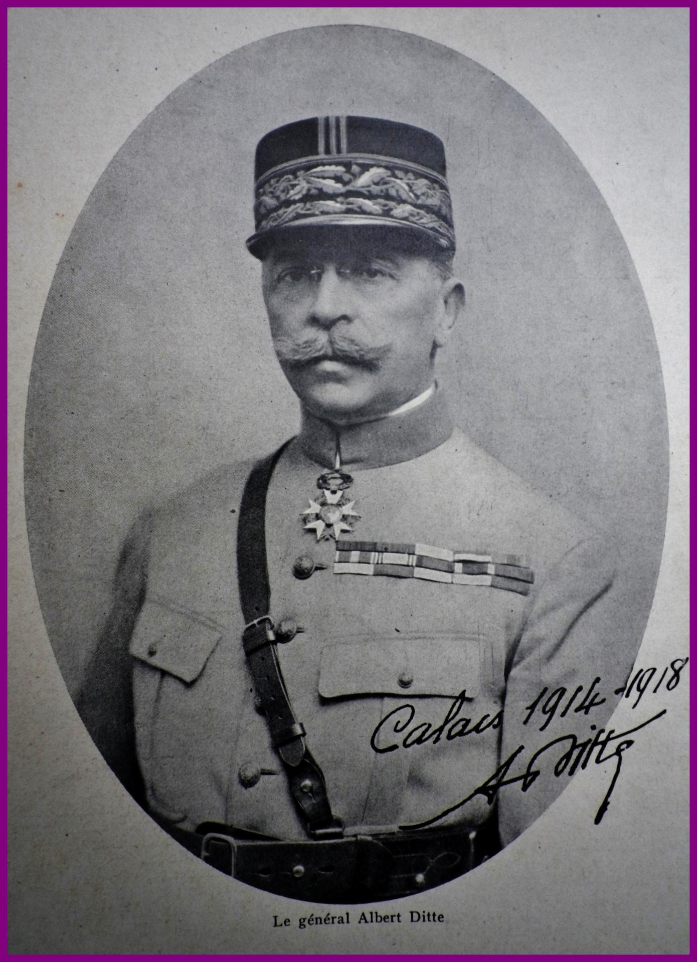 Calais 14 18 general ditte gouverneur de calais de 1914 a 1918 encadre