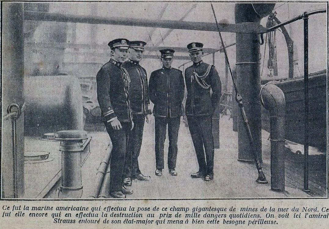 Calais 14 18 l amiral americain strauss et son staff