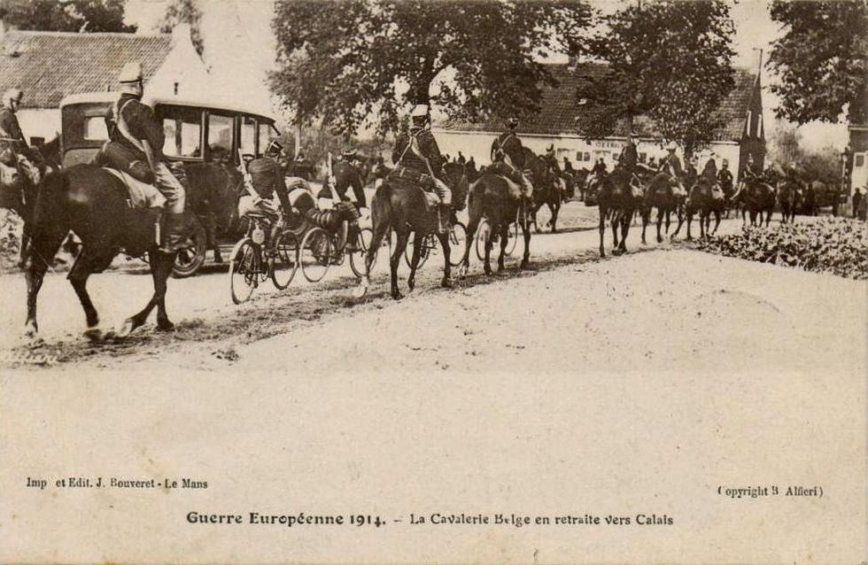 Calais 14 18 la cavalerie belge en retraite vers calais