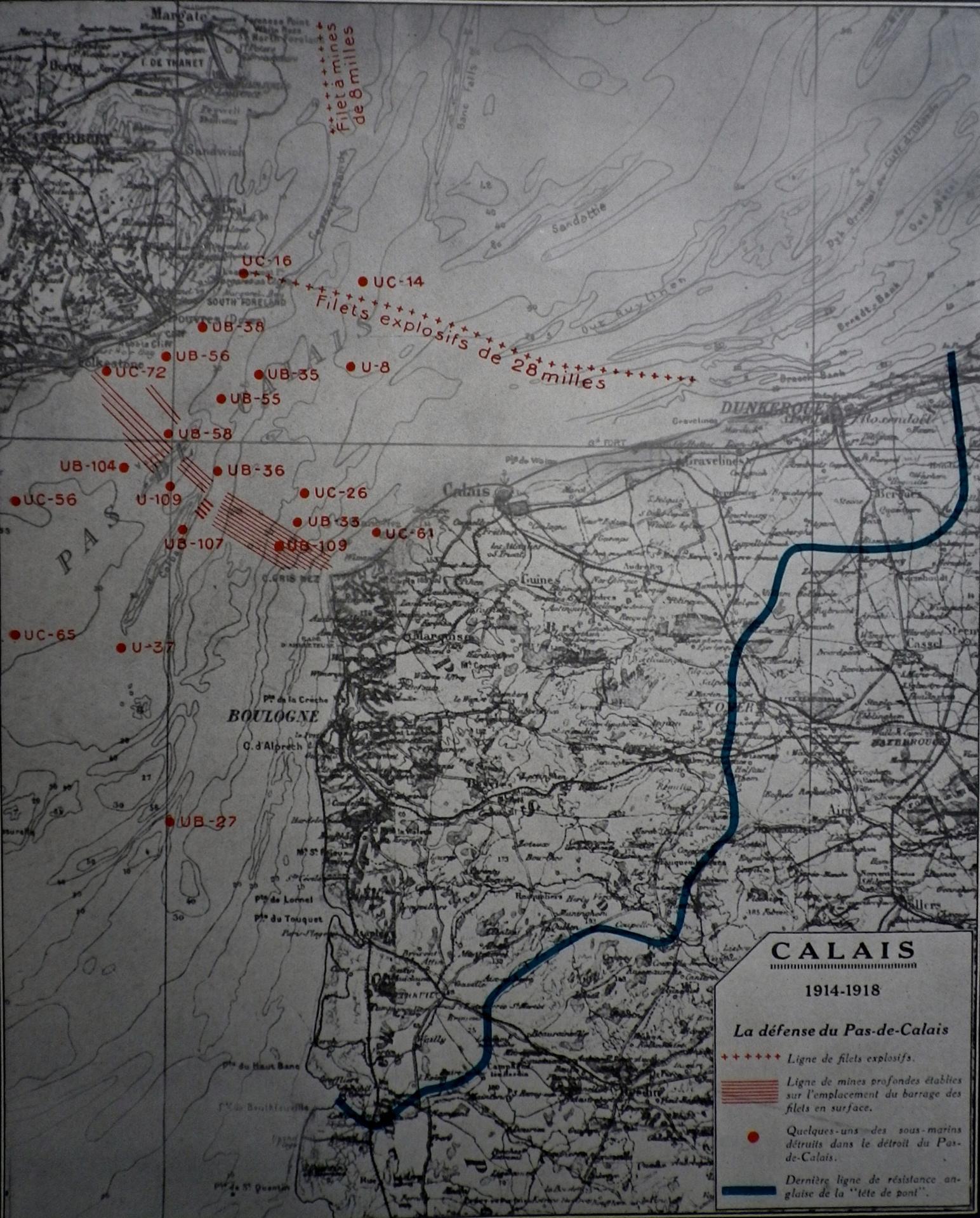 Calais 14 18 la defense du pas de calais