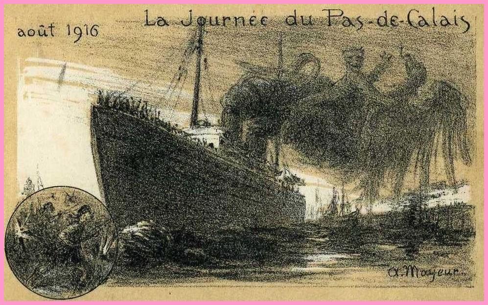 Calais 14 18 la journee du pas de calais 1916 encadre