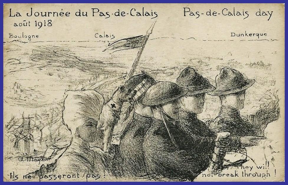 Calais 14 18 la journee du pas de calais calais dunkerque encadre