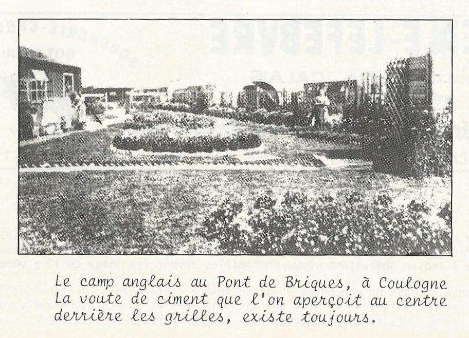 Calais 14 18 le camp anglais au pont de briques coulogne