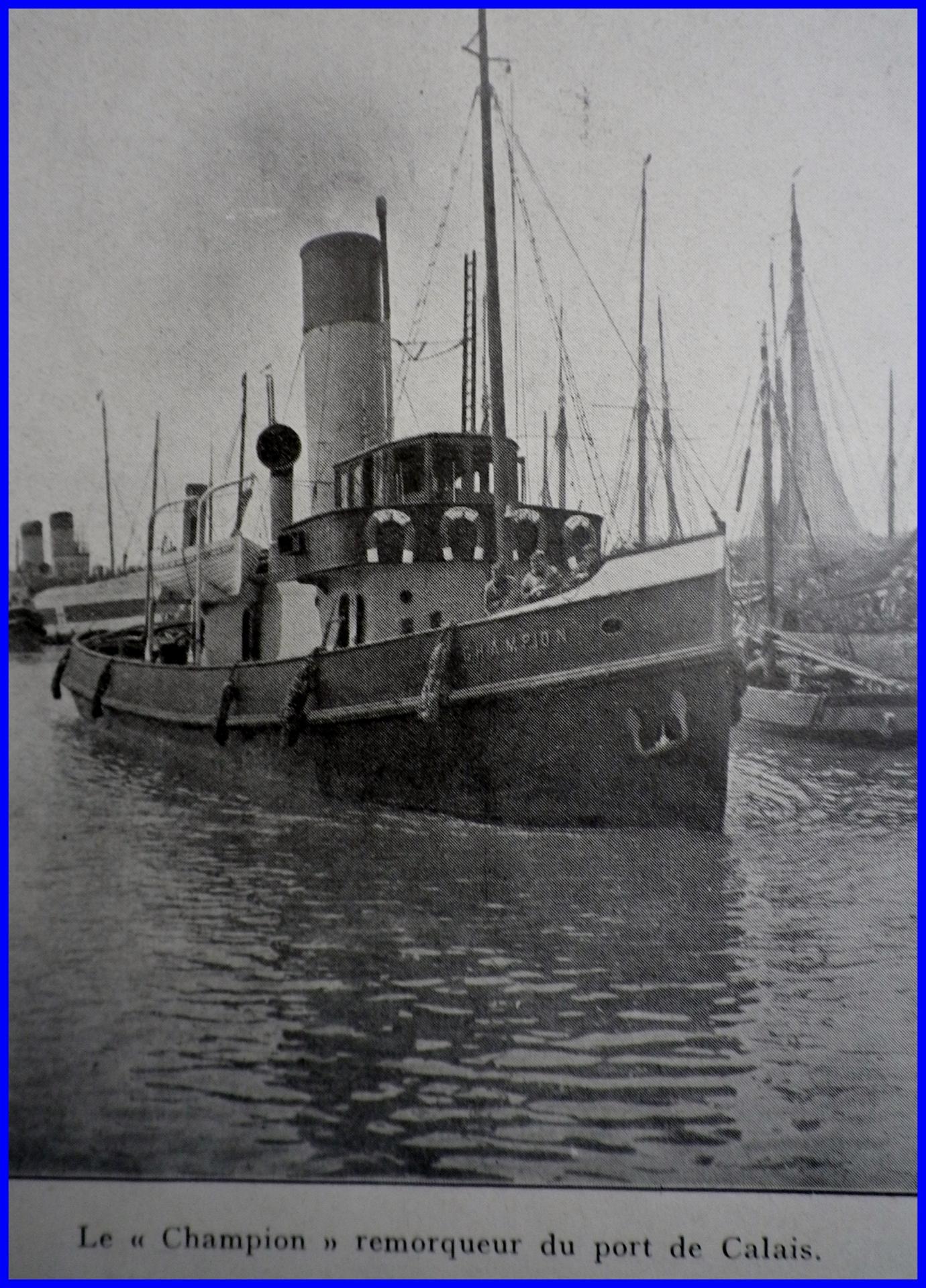 Calais 14 18 le champion remorqueur du port de calais encadre