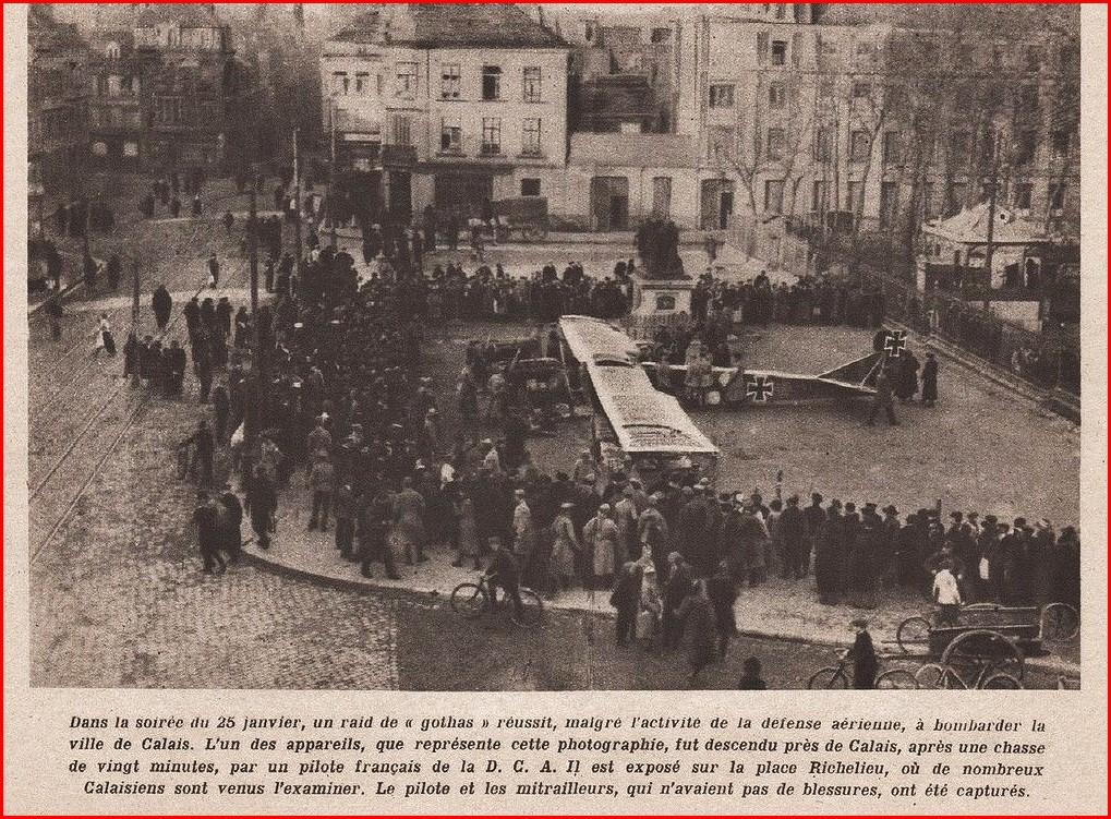 Calais 14 18 le gotha abattu encadre