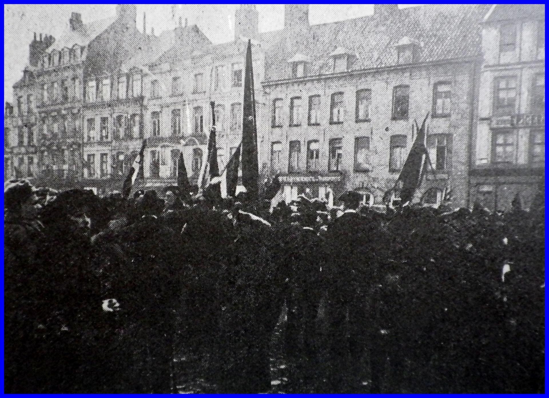 Calais 14 18 le jour de l armistice 11 novembre 1918 encadre
