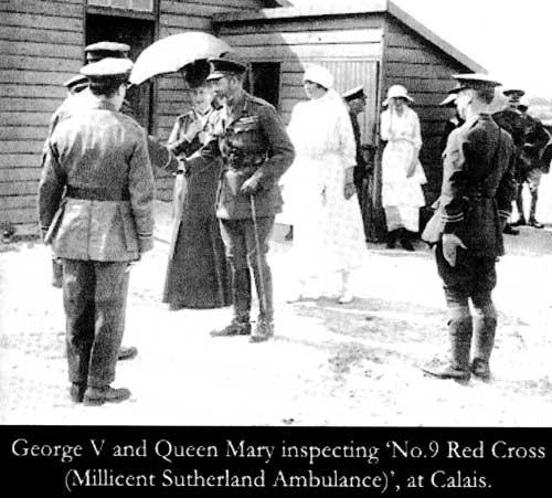 Calais 14 18 le roi et la reine en visite a calais