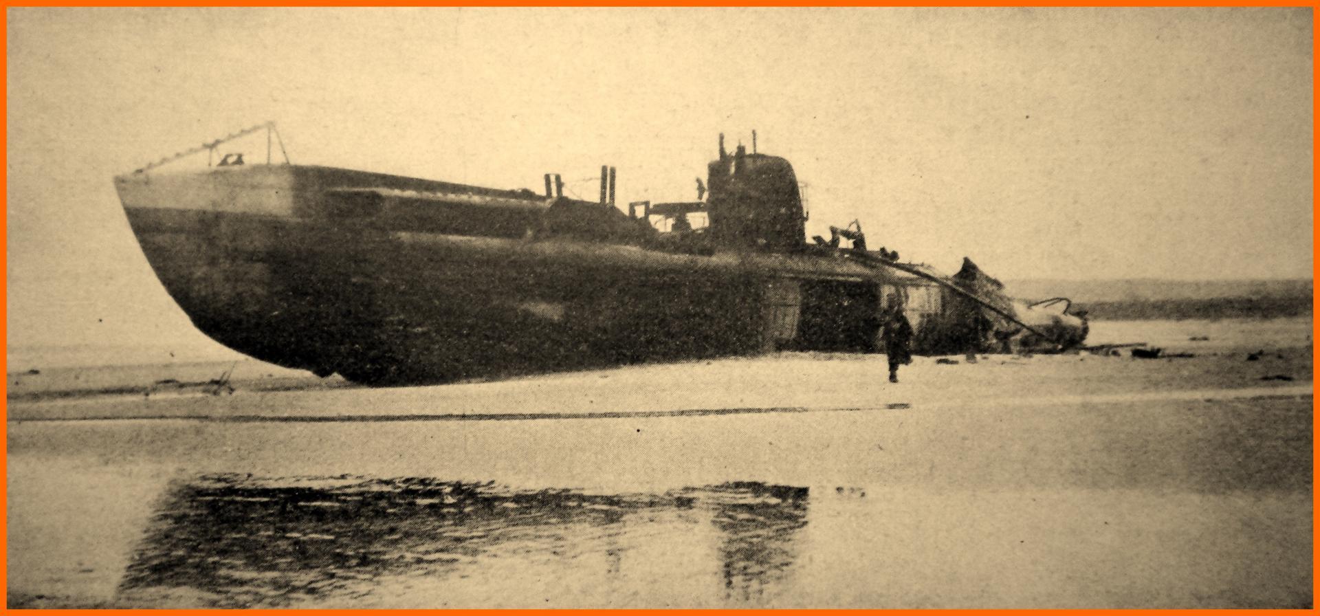 Calais 14 18 le sous marin allemand uc 61 echoue a wissant encadre