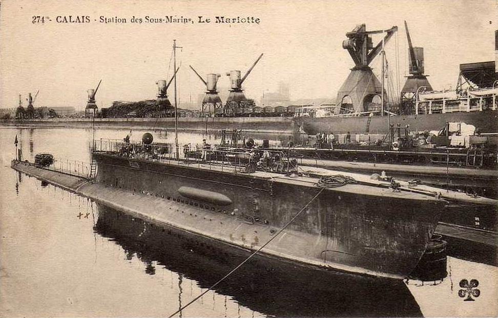 Calais 14 18 le sous marin mariotte