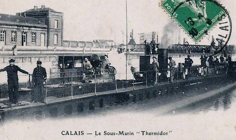 Calais 14 18 le sous marin thermidor