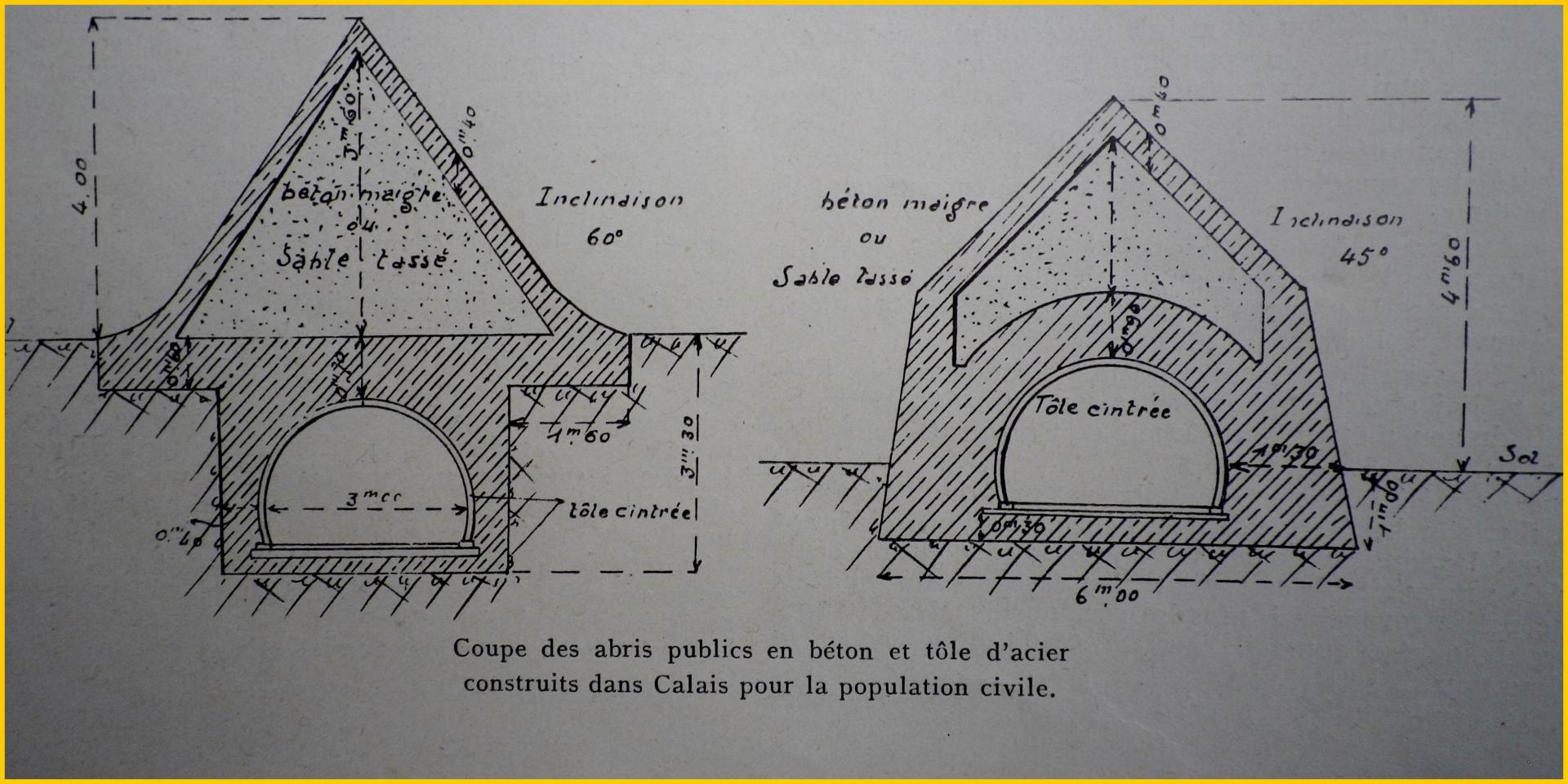 Calais 14 18 les abris publics encadre