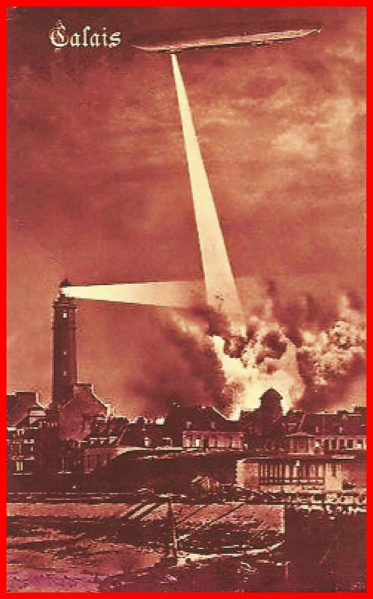 Calais 14 18 les bombardements de calais nord par zeppelin encadre