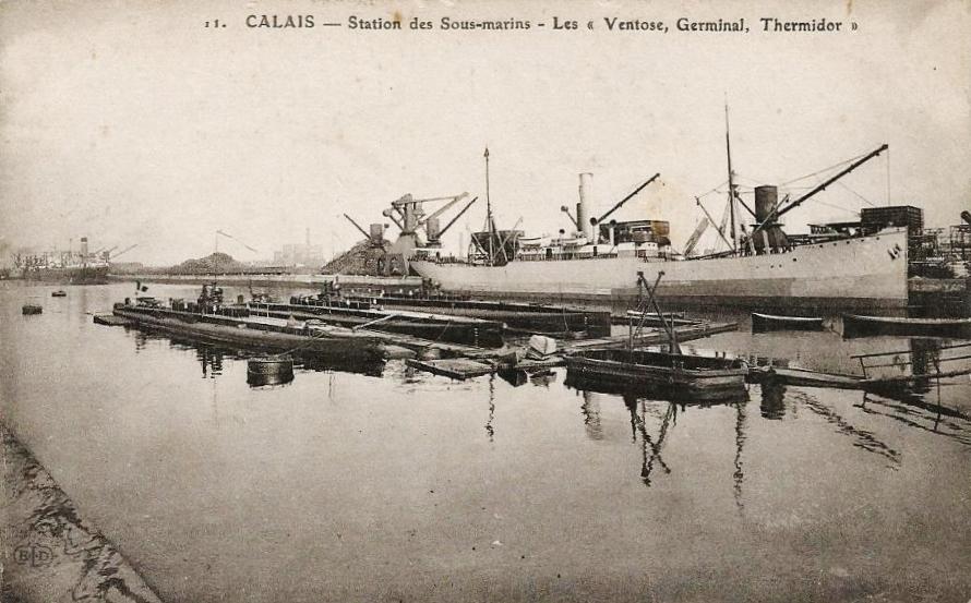 Calais 14 18 les sous marins dont thermidor
