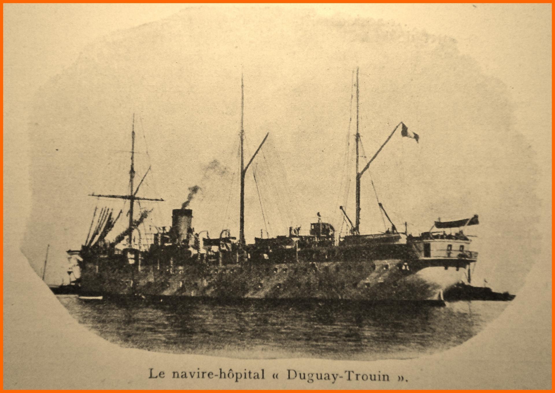 Calais 14 18 navire hopital duguay trouin encadre