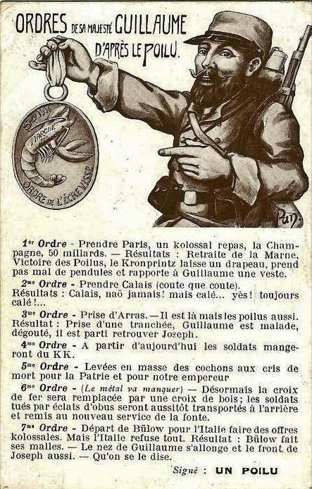 Calais 14 18 ordres caricatures