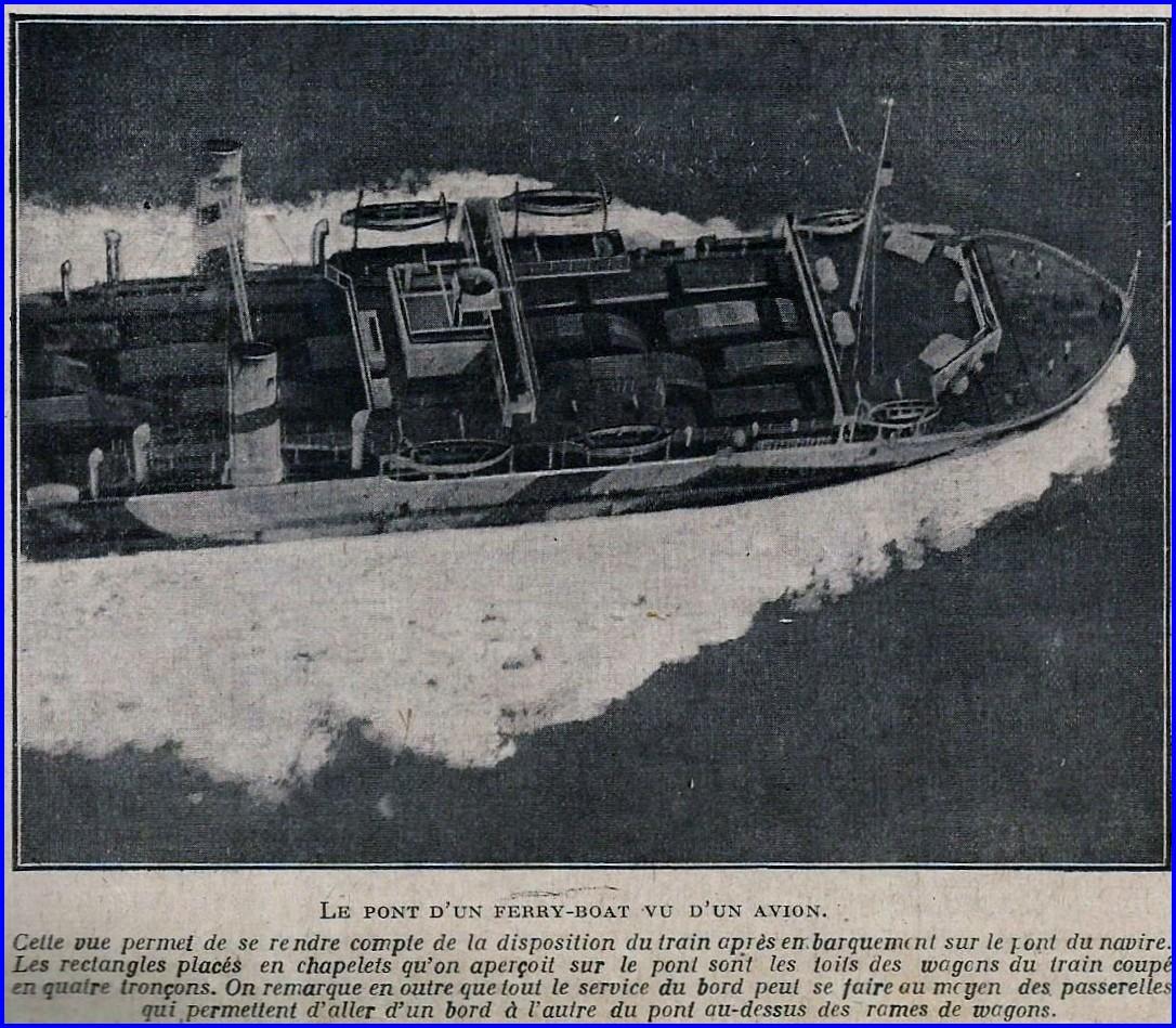Calais 14 18 pont d un ferry boat vu d avion encadre