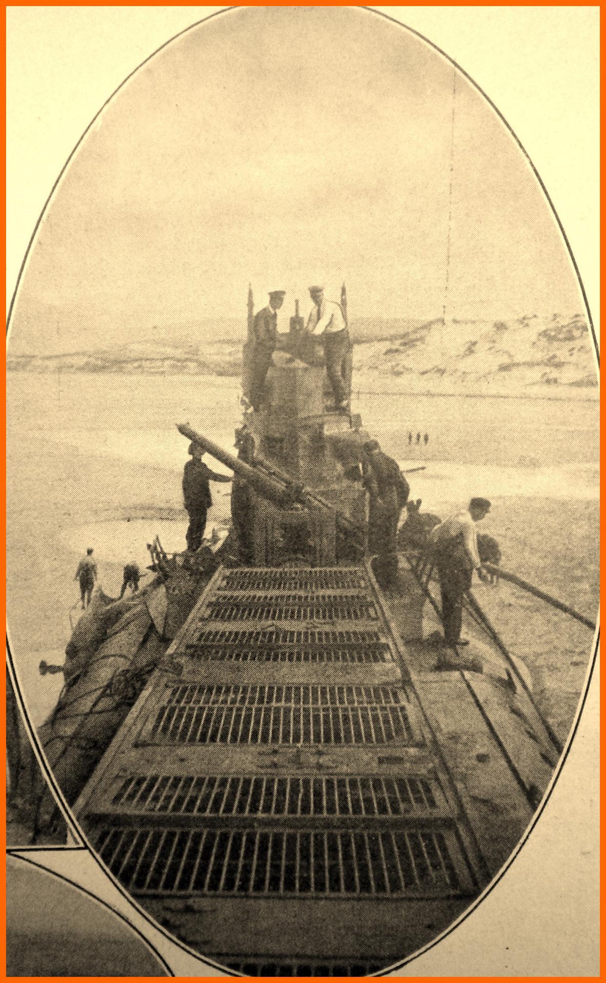 Calais 14 18 pont du sous marin capture a wissant encadre