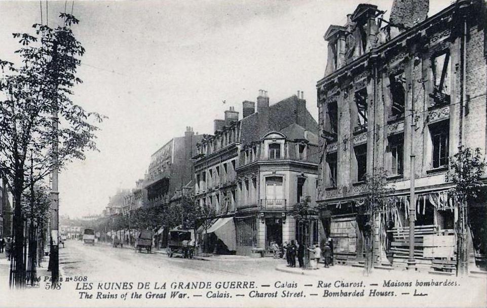 Calais 14 18 rue charost ruines 1