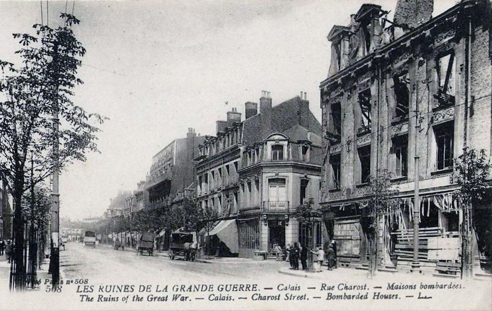 Calais 14 18 rue charost ruines
