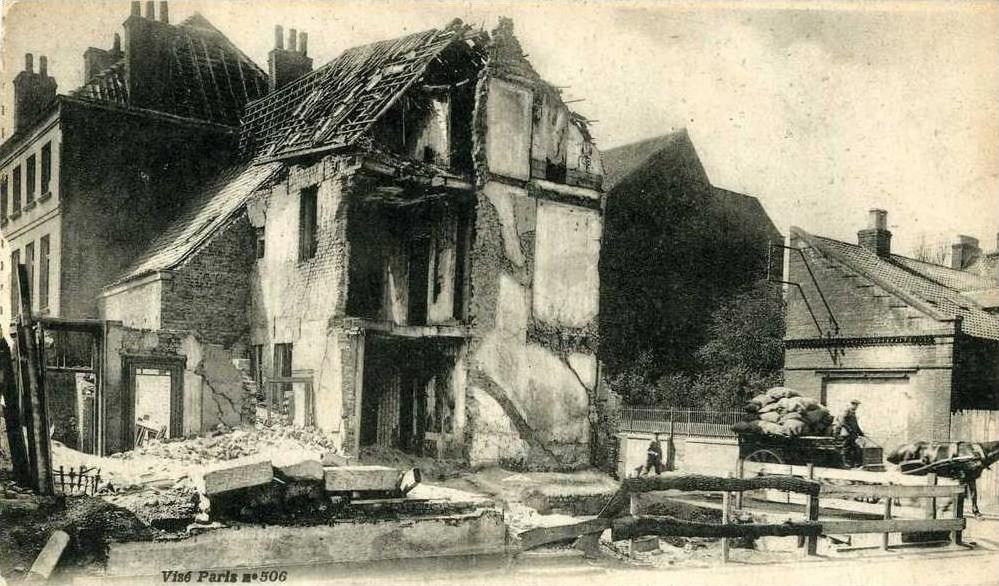 Calais 14 18 ruines rue thiers et valenciennes