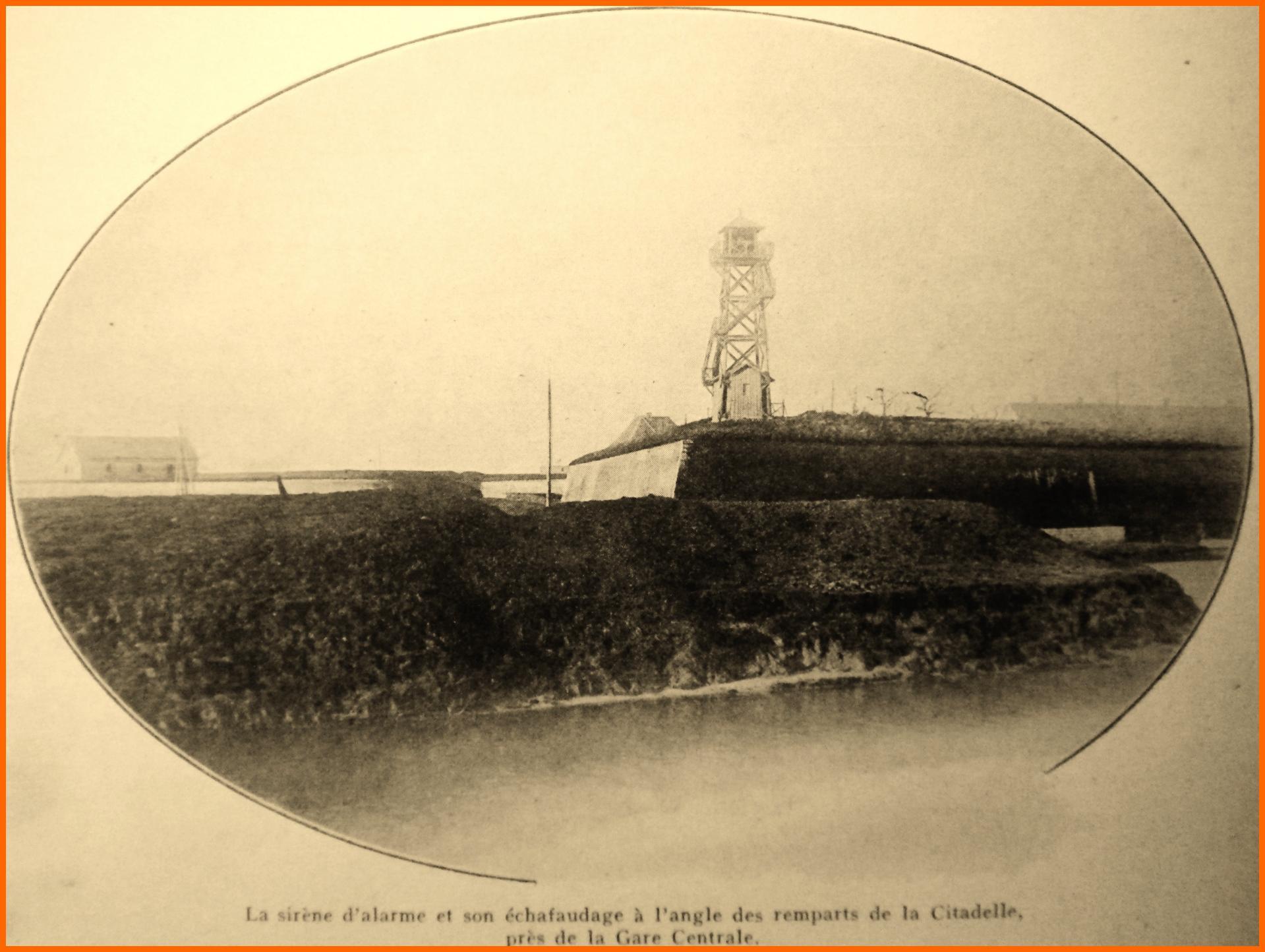 Calais 14 18 sirene d arlame sur les remparts de la citadelle encadre