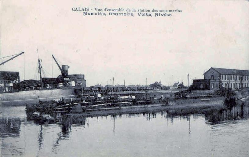Calais 14 18 sous marins le nivose