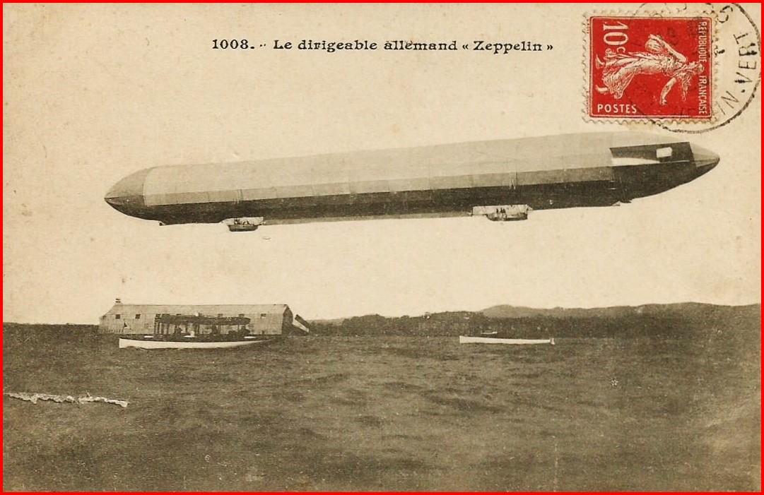 Calais 14 18 type de zeppelin ayant attaque calais encadre