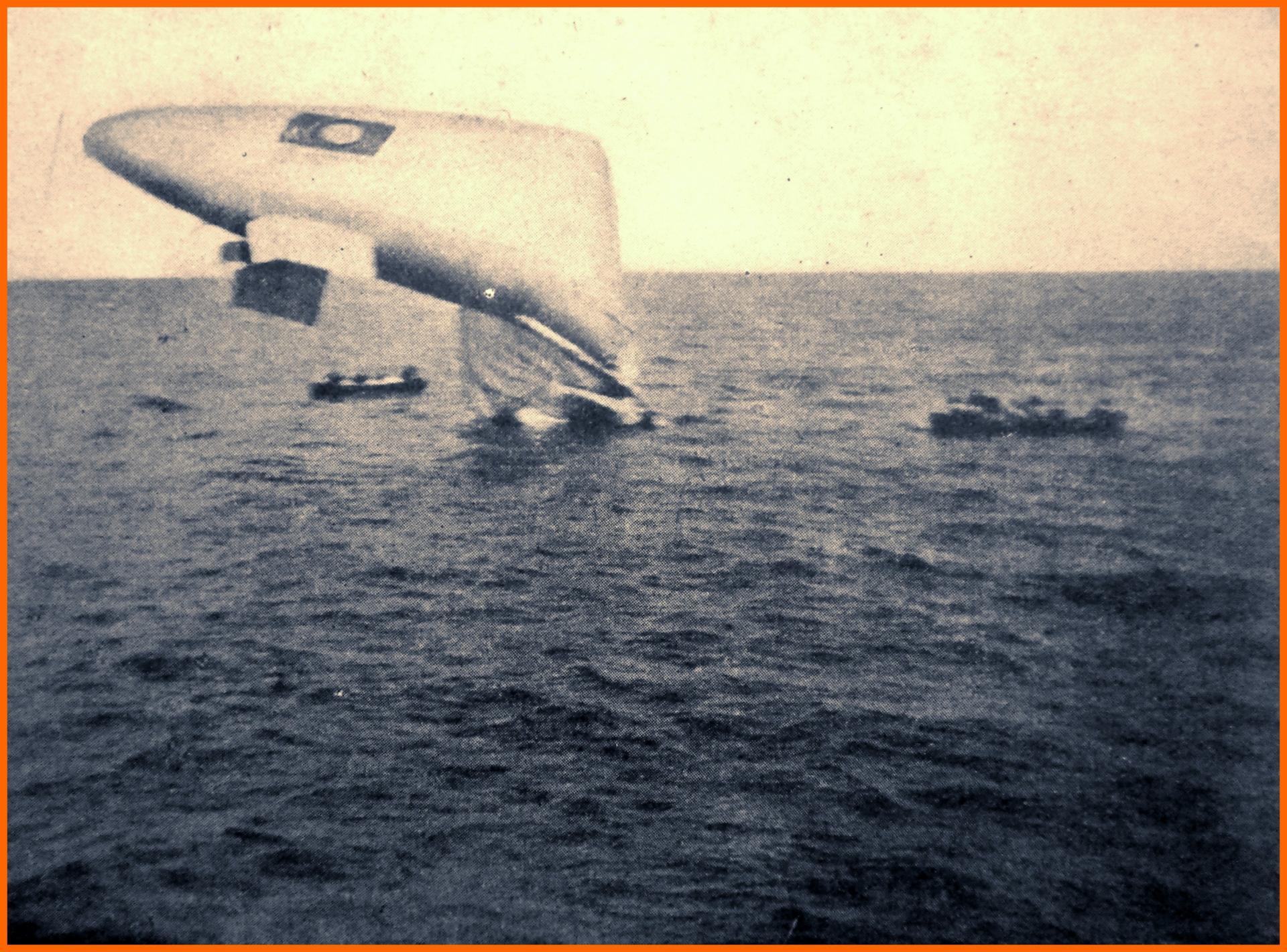 Calais 14 18 vedette aerienne en perdition dans le detroit sept 1916 encadre