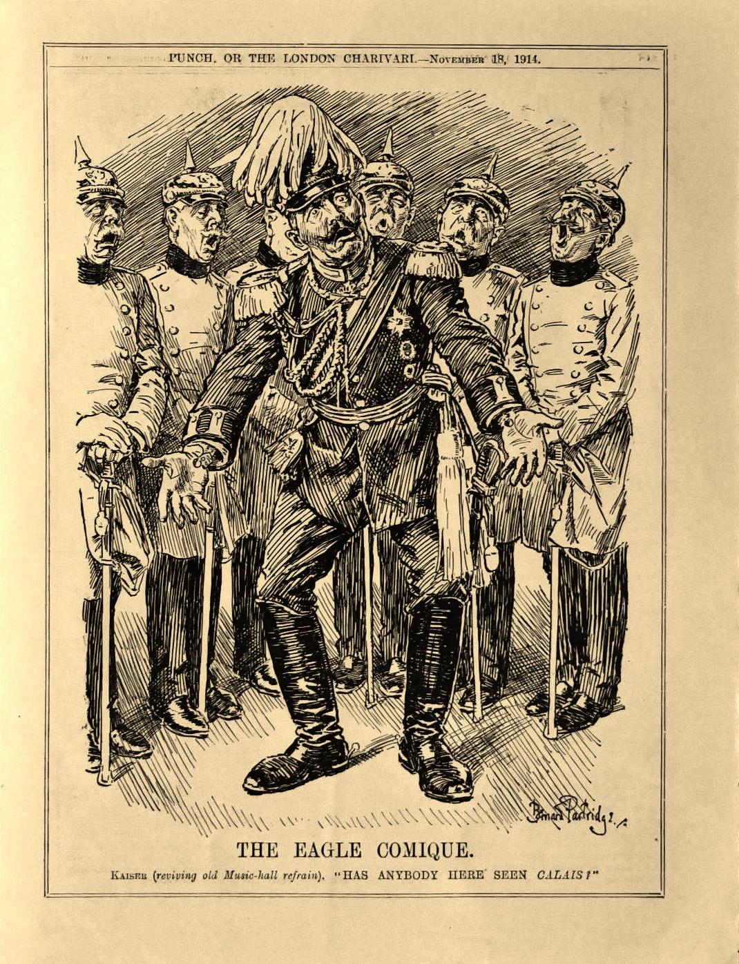 Calais 1914 the eagle comique